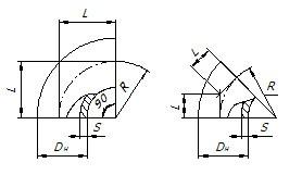 Отвод штампосварной ТУ 102-488-95