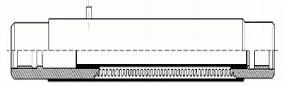 Компенсатор DEK для систем отопления и водоснабжения. Чертеж