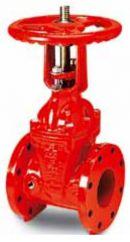 Задвижка чугунная клиновая фланцевая для пожаротушения AVK 25/46.