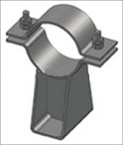 Опора трубопровода подвижная с плоским хомутом ТС-625.000 серии 5.903-13 выпуск 8-95