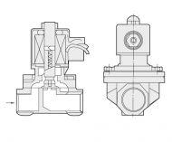 Клапан DENDOR соленойдный электромагнитный прямого действия серии VS (на спирт)