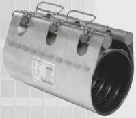 Муфта ремонтная STRAUB-CLAMP из нержавеющей стали для труб из разных материалов. Серия NBR/ES (длина 300 мм)