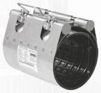Муфта ремонтная STRAUB-CLAMP из нержавеющей стали для труб из разных материалов. Серия NBR/ES (длина 200 мм)