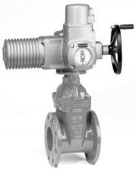 Задвижка с электроприводом чугунная клиновая фланцевая AVK 15/40-42, 06/30.