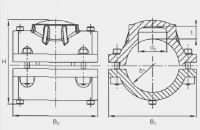 Накладка-заглушка усиливающая Frialen серии VVS. Чертеж