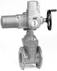 Задвижка с электроприводом чугунная клиновая фланцевая AVK 15/70-72, 55/30.