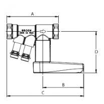 Клапан BROEN BALLOREX Venturi FODRV