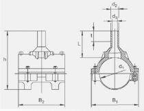 Накладка-патрубок Frialen серии SA. Чертеж