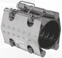 Муфта ремонтная STRAUB-CLAMP из нержавеющей стали для труб из разных материалов. Серия NBR/ES (длина 200 мм, допуск на диаметр до 20 мм)