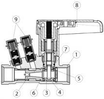 Клапан BROEN BALLOREX Venturi. Чертеж. Общий вид