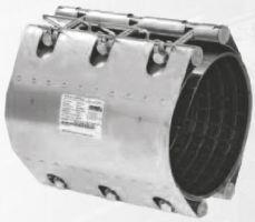 Муфта ремонтная STRAUB-CLAMP из нержавеющей стали для труб из разных материалов. Серия NBR/ES (длина 300 мм, допуск на диаметр до 20 мм)