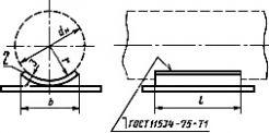 Опора трубопровода ОПБ1. Чертеж: 1 - хомут; 2 - подушка; 3 - гайка по ГОСТ 5915-70