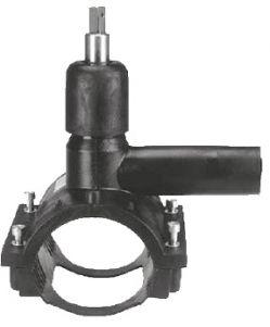 Вентиль для врезки под давлением ПЭ100 (SDR11) с удлиненным выходным патрубком Frialen серии DAV