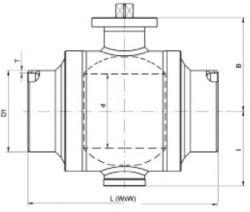 Кран шаровый Ballomax серии КШГ 71.112, УХЛ, DN 50-500