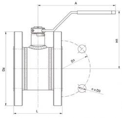 Кран шаровый Ballomax серии КШГ 70.113, короткий, DN 50-80