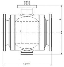 Кран шаровый Ballomax серии КШГ 71.113, УХЛ, DN 50-500