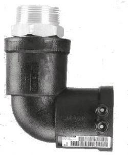 Переходник - отвод Frialen серии WUN 90° ПЭ100-ВП/сталь (SDR11)