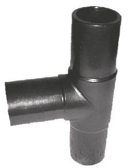 Тройник 90° ПЭ100 литой равносторонний удлиненный для стыковой и электромуфтовой сварки - SDR17 / SDR11