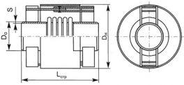 Компенсатор сильфонный поворотный (угловой) КСП. Чертеж