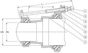 Соединитель AVK 602 переходной. Компоненты и размеры