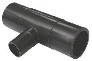 Тройник 90° ПЭ100 литой редукционный удлиненный для стыковой и электромуфтовой сварки - SDR17 / SDR11