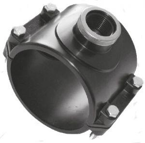 Отвод седловой компрессионный с металлическим усиливающим кольцом