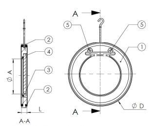 Клапан Tecofi CB5440. Чертеж. Общий вид.