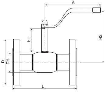Кран шаровый Ballomax серии КШТ 60.103. Размеры