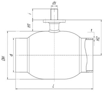 Кран шаровый Ballomax серии КШГ 71.102 DN 125-500. Размеры