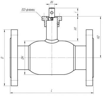 Кран шаровый Ballomax серии КШН 21.103, DN 50-100. Размеры