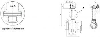 Кран шаровый Ballomax серии КШГ 79.112, для подземной установки, весьма усиленного типа, с редуктором, DN 150-1400
