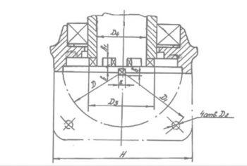 Электропривод для запорной арматуры типа НГ. Размеры 2