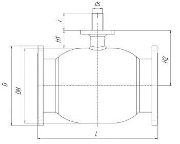 Кран шаровый Ballomax серии КШТ 61.113 DN 100-400. Размеры