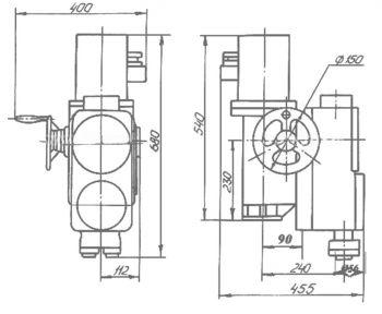 Электропривод для запорной арматуры взрывозащищенный типа ВА. Размеры