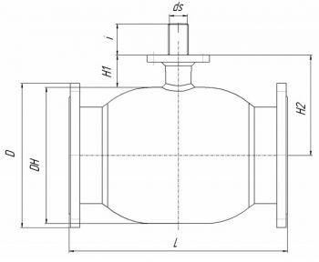 Кран шаровый Ballomax серии КШН 21.103, DN 125-500. Размеры