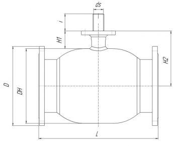 Кран шаровый Ballomax серии КШТ 61.103. Размеры