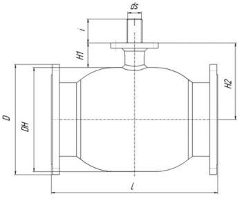Кран шаровый Ballomax серии КШГ 71.103 DN 125-500. Размеры