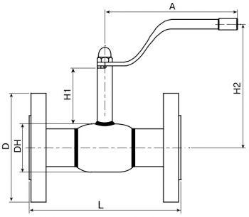 Кран шаровый Ballomax серии КШГ 70.113 DN 15-40. Размеры