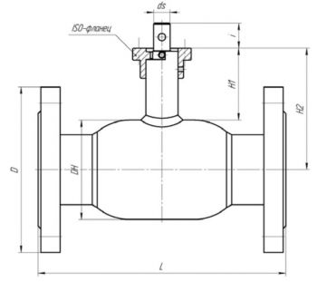 Кран шаровый Ballomax серии КШГ 71.103 DN 50-100. Размеры