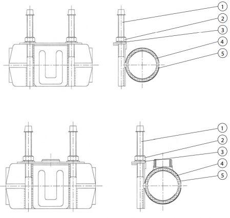 Хомут ремонтный ленточный цельный AVK 729/S. Компоненты